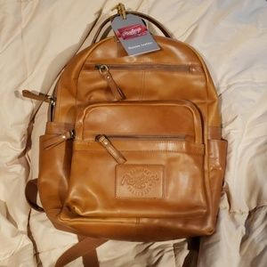 NWT Leather Rawlings Backpack